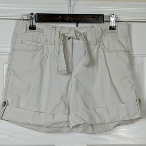 Ann Taylor Belted Cuffed Shorts